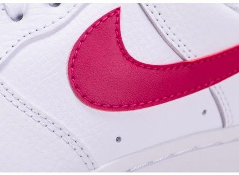 Chaussures Nike Air Force 1 Blanche et Rouge vue dessus