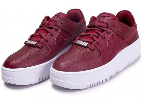 Chaussures Nike Air Force One Sage Low Rouge vue intérieure
