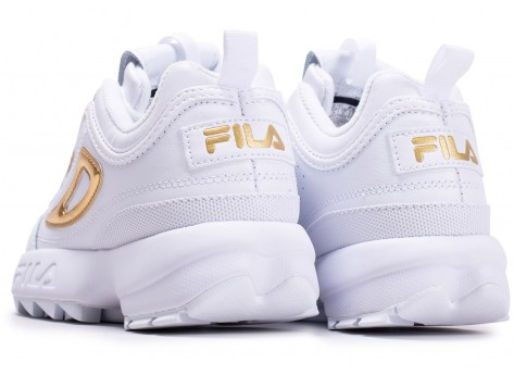 Chaussures Fila Disruptor blanc or  vue dessous