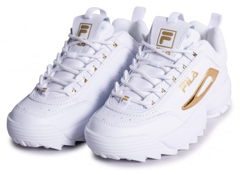Chaussures Fila Disruptor blanc or  vue intérieure