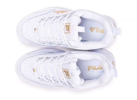Chaussures Fila Disruptor blanc or  vue arrière