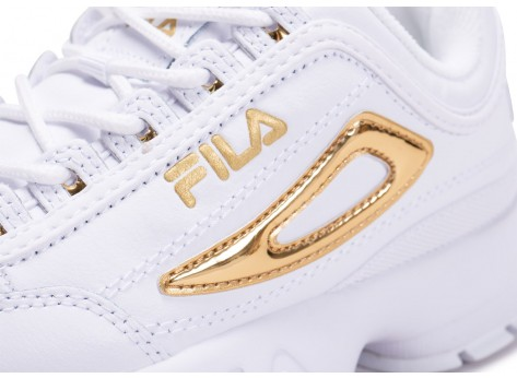 Chaussures Fila Disruptor blanc or  vue dessus
