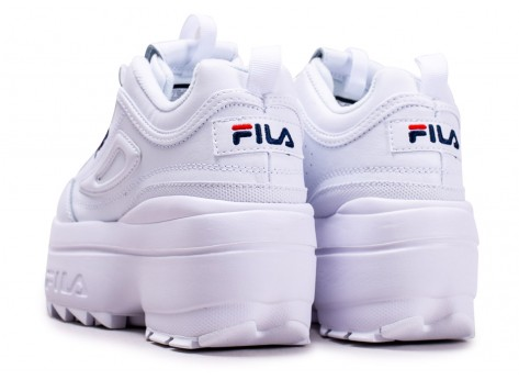 Chaussures Fila Disruptor Wedge blanche  vue dessous