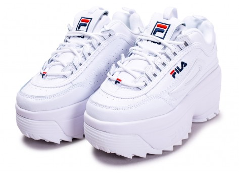 Chaussures Fila Disruptor Wedge blanche  vue intérieure
