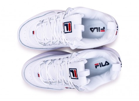 Chaussures Fila Disruptor Wedge blanche  vue arrière