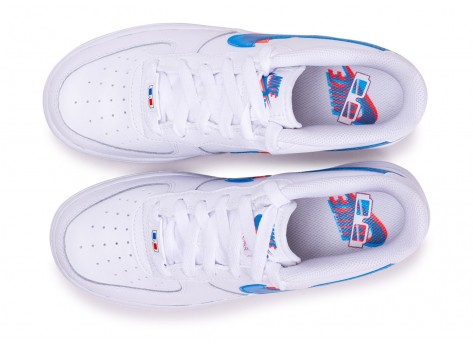 Chaussures Nike Air Force 1 LV8 Low 3D blanche junior vue avant