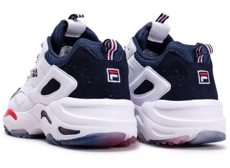 Chaussures Fila Ray Tracer blanche junior vue dessous