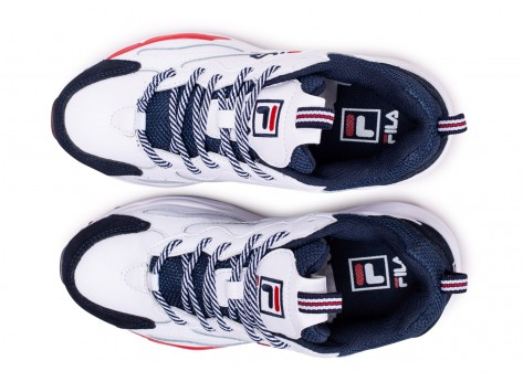 Chaussures Fila Ray Tracer blanche junior vue arrière