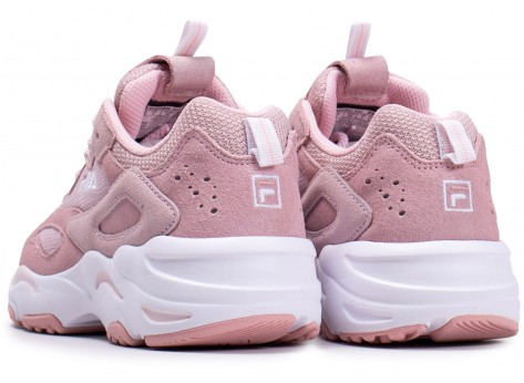 Chaussures Fila Ray Tracer blanc rose junior vue dessous