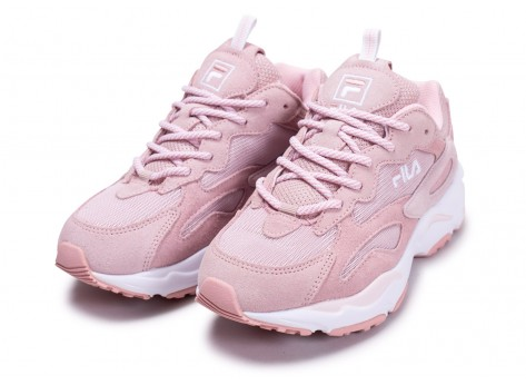 Chaussures Fila Ray Tracer blanc rose junior vue intérieure