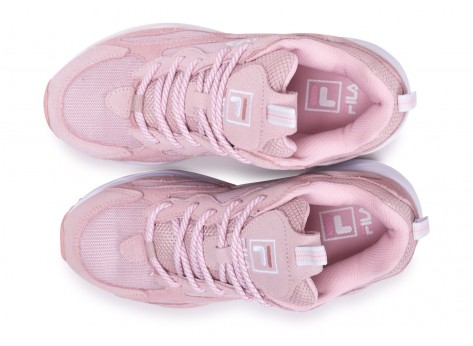 Chaussures Fila Ray Tracer blanc rose junior vue arrière