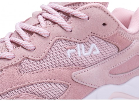 Chaussures Fila Ray Tracer blanc rose junior vue dessus