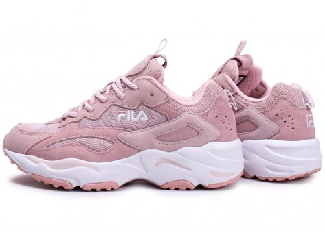 Chaussures Fila Ray Tracer blanc rose junior vue extérieure
