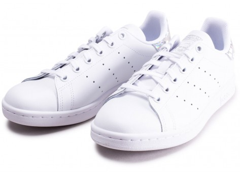 Chaussures adidas Stan Smith blanche diamant junior vue intérieure