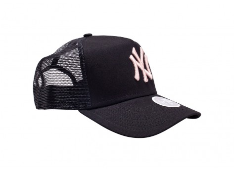 Casquettes New Era Casquette Trucker League Essential New York Yankees noire et rose