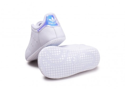 Chaussures adidas Stan Smith blanche diamant Crib vue arrière