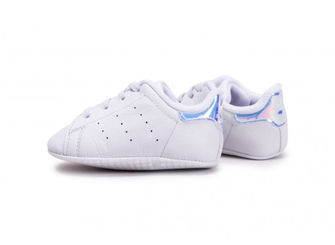 Chaussures adidas Stan Smith blanche diamant Crib vue extérieure