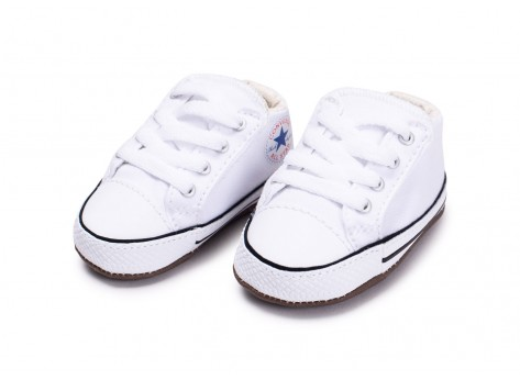 Chaussures Converse Chuck Taylor All Star Crib blanche vue intérieure