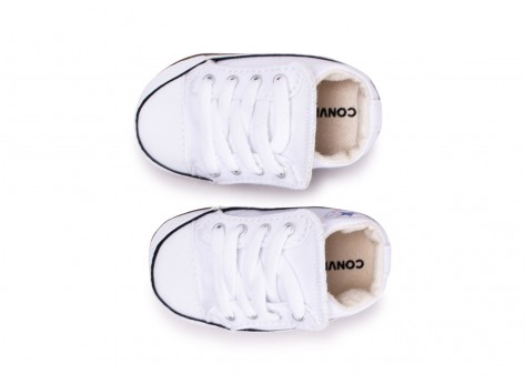 Chaussures Converse Chuck Taylor All Star Crib blanche vue arrière