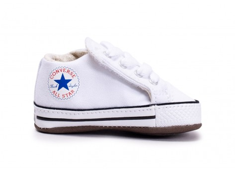 Chaussures Converse Chuck Taylor All Star Crib blanche vue dessus
