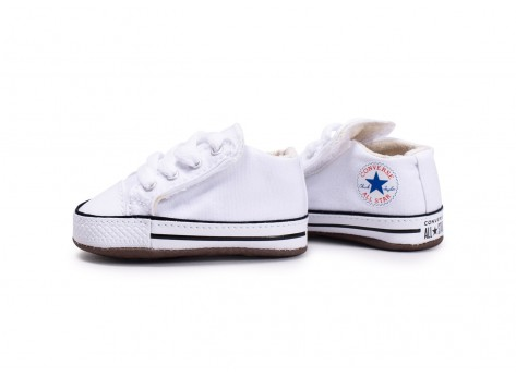 Chaussures Converse Chuck Taylor All Star Crib blanche vue extérieure