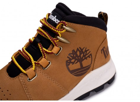 Chaussures Timberland Brooklyn City Mid marron vue dessus