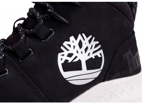 Chaussures Timberland Brooklyn City Mid noir vue dessus