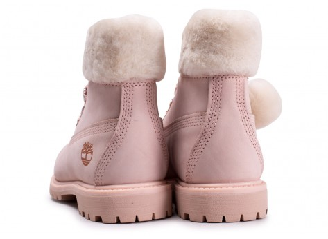 Chaussures Timberland 6-Inch Boot Premium rose femme vue dessous