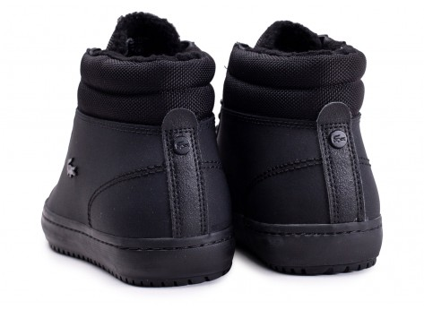 Chaussures Lacoste Straightset Thermo noire vue dessous