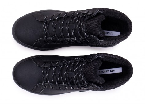 Chaussures Lacoste Straightset Thermo noire vue arrière