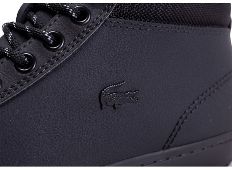 Chaussures Lacoste Straightset Thermo noire vue dessus