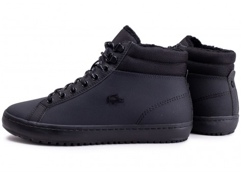 Chaussures Lacoste Straightset Thermo noire vue extérieure