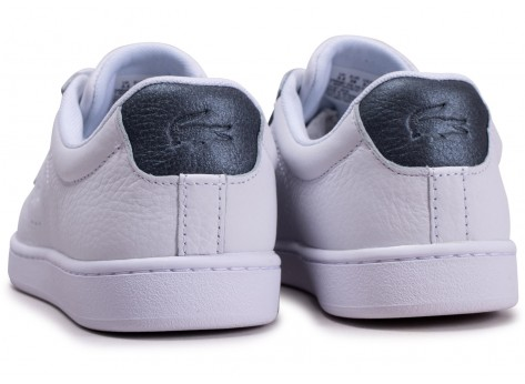 Chaussures Lacoste Carnaby Evo blanche femme vue dessous