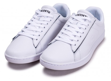 Chaussures Lacoste Carnaby Evo blanche femme vue intérieure