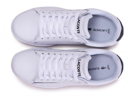 Chaussures Lacoste Carnaby Evo blanche femme vue arrière