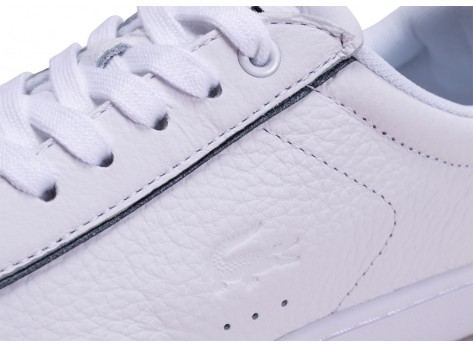 Chaussures Lacoste Carnaby Evo blanche femme vue dessus