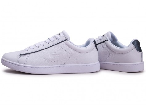 Chaussures Lacoste Carnaby Evo blanche femme vue extérieure