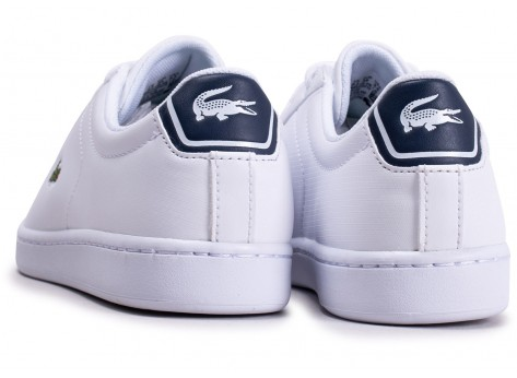 Chaussures Lacoste Carnaby Evo blanche junior vue dessous