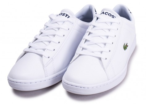 Chaussures Lacoste Carnaby Evo blanche junior vue intérieure