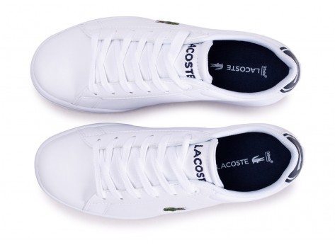 Chaussures Lacoste Carnaby Evo blanche junior vue arrière