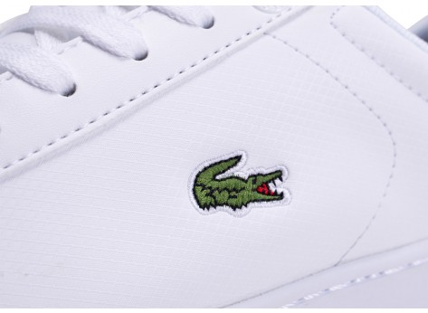 Chaussures Lacoste Carnaby Evo blanche junior vue dessus