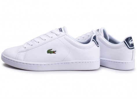 Chaussures Lacoste Carnaby Evo blanche junior vue extérieure