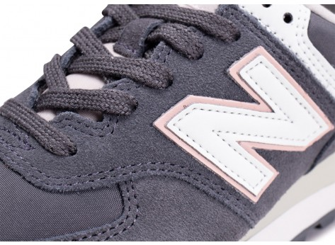 Chaussures New Balance WL574SYP grise femme vue dessus