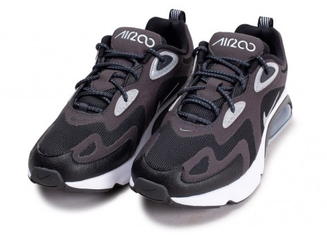 Chaussures Nike Air Max 200 Winter noire anthracite vue intérieure