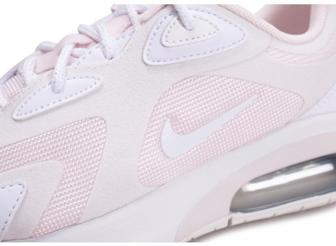 Chaussures Nike Air Max 200 blanche et rose femme vue dessus