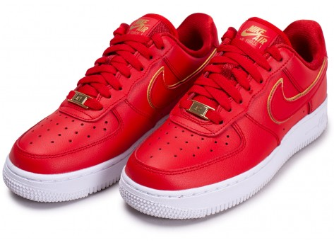 Chaussures Nike Air Force 1 rouge femme vue intérieure