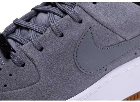 Chaussures Nike Air Force 1 Sage grise vue dessus