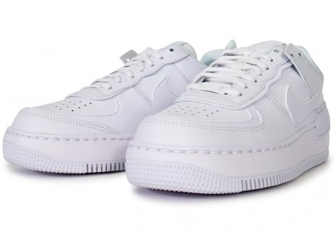 Chaussures Nike Air Force 1 Shadow triple blanc femme vue intérieure