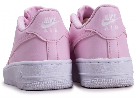 Chaussures Nike Air Force 1 rose junior vue dessous