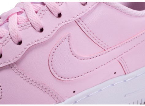 Chaussures Nike Air Force 1 rose junior vue dessus